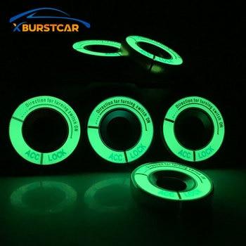 Xburstcar dla AUDI A1 A3 A4 B5 B6 B7 B8 A5 A6 C5 Q3 Luminous ze stopu aluminium ze stopu aluminium pierścień kluczyka zapłonu obudowa przełącznika akcesoria do wnętrz