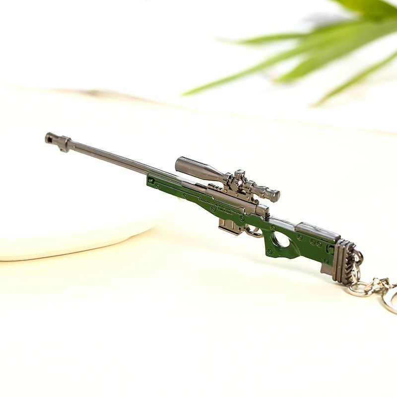 Pubg chaveiro capacete dourado arma modelo ak47 arma 98k sniper rifle carro metal chaveiros chaveiro pingente para presentes dos homens llaveros