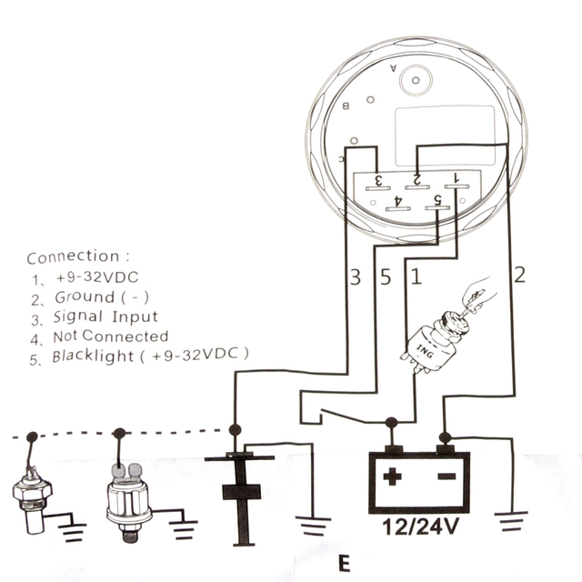 Medidor de indicador de nivel de combustible SUV universal para autom/óvil con transmisor de nivel de combustible