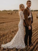 Женское кружевное вечернее платье weilinsha белое с длинным