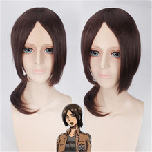 Hot Sale Attack on Titan Wig on Titan Ymir Cosplay Wig Women Medium Long Brown Synthetic Hair Halloween Party Anime Wigs(China)