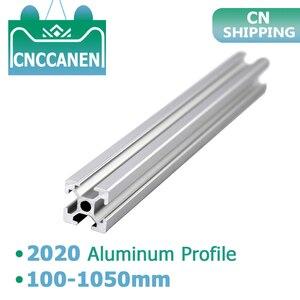 Image 2 - 2020 Aluminum Profile 6mm T Slot 2020 Aluminium Extrusion Anodized 100 200 300 400 500 600 800 1000mm CNC 3D Printer Parts 1m