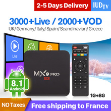IPTV Germany Spain Italy UK 1 Year IP TV MX9Pro Android 8.1 1G+8G Sweden Subscription Code