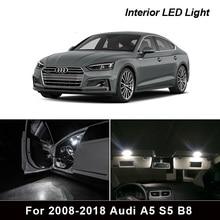 17Pcs White Error Free Interior LED Package Light Bulb For 2008 2018 Audi A5 S5 B8 Courtesy Glove Box Trunk Lamp