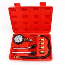 Probador de compresión de motor de gasolina, medidor de presión de motor de gasolina automático, cilindro de motor de gasolina, medidor de presión de automóvil con Adaptador M10 M12 M14 M18