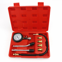 Silnik benzynowy próbnik ciśnienia Auto benzyna gaz Cylinder silnika samochodów ciśnienia Tester miernika z M10 M12 M14 M18 Adapter