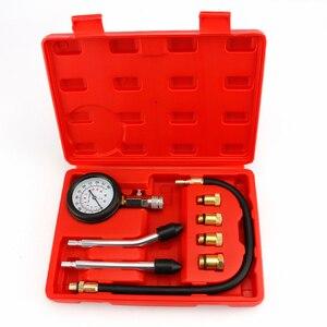 Image 1 - Testador de compressão de motor gasolina, auto medidor de pressão de motor e cilindro de gás de gasolina testador com adaptador m10 m12 m14 m18