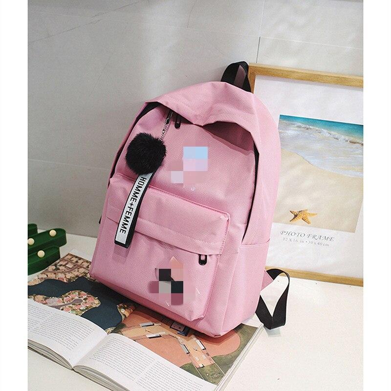 2020 New Backpack Schoolbag Students Bagpack Female Ladies School Backpack Shoulder Bag Large Capacity New Couple Bag