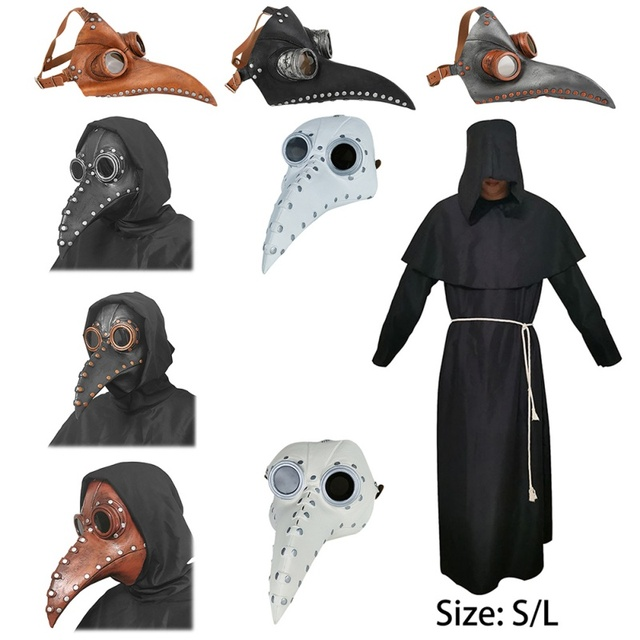 Funny Steampunk Plague Doctor Bird Mask Latex Punk Cosplay Masks Beak Adult Halloween Event Cosplay Props Accessories 1