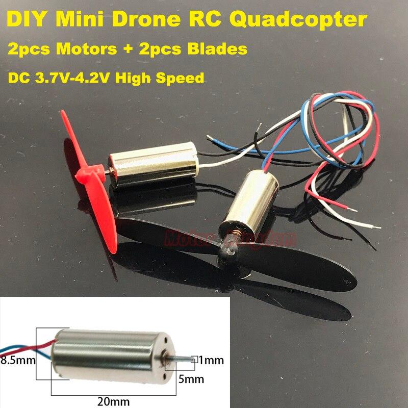 DC 6V Motor DIY RC Aircraft Wire Lead Coreless 50000RPM 2pcs