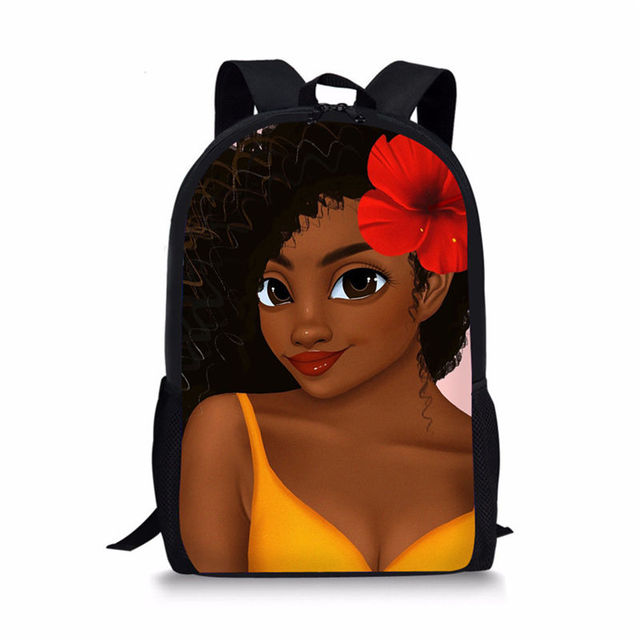 Black Queen African American Girl School Bag For Teenagers 1