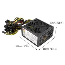 1600W Power Supply For 6GPU Eth Rig Ethereum Coin Mining Miner Dedicated 90 Gold High Efficiency Stable Performance цена и фото