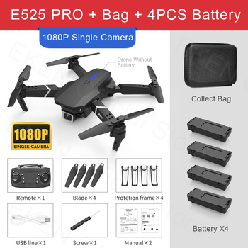E525 PRO RC Quadcopter Profissional Obstacle Avoidance Drone Dual Camera 1080P 4K Fixed Height Mini Dron Helicopter Toy 16
