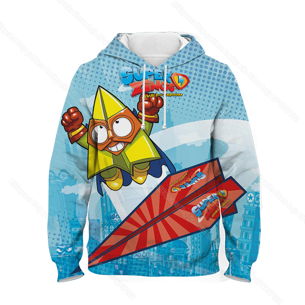 Kids 3D Print Super Zings Hoodie Autumn Winter Children Superzings 6 Series Sweatshirt Sudadera Boy Girl Cartoon Anime Pullover 24