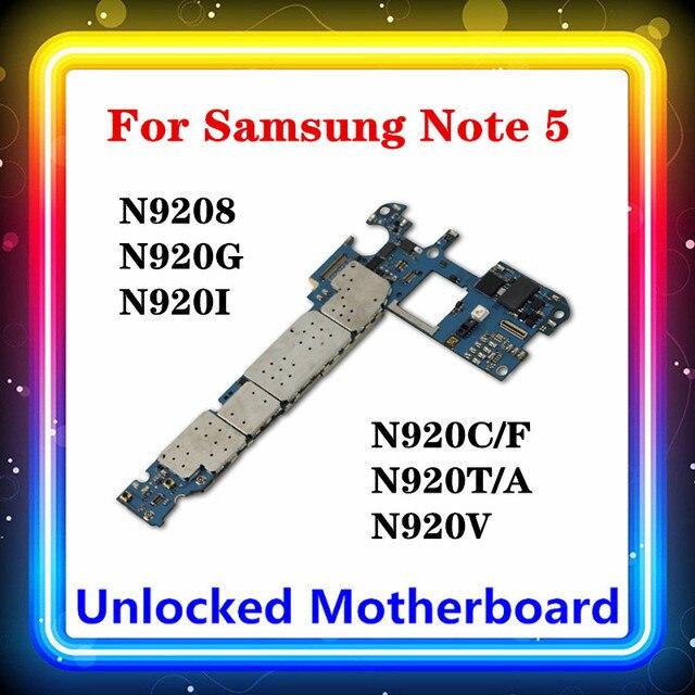 三星銀河 (注) 5 N920C/fマザーボード32ギガバイトN9208 N920G/N920I/N920C/N920T/n920V N9200 N920P N920Aアンドロイドos