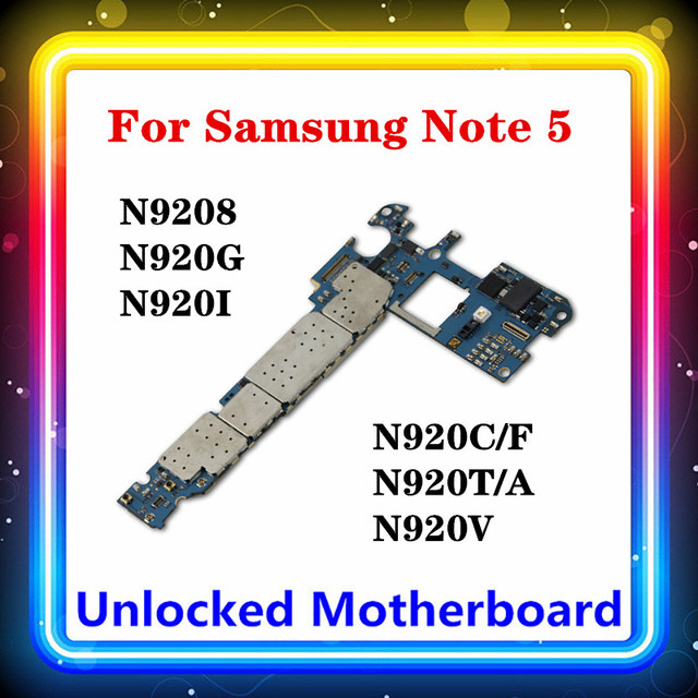Do Samsung Galaxy Note 5 N920C/F płyta główna 32gb N9208 N920G/N920I/N920C/N920T/N920V N9200 N920P N920A Android OS