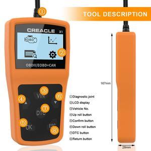 Image 2 - X1 לקרוא/ברור תקלת קוד Reader סריקת כלי OBDII/OBD לקרוא DTC OBD2 רכב אבחון אוטומטי כלי אבחון סורק עבור רכב