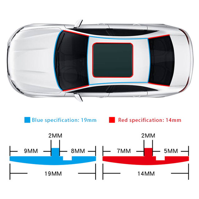Window Roof Car Seal Strips Auto Seal Protection Dust Proof Front Rear Windshield Sealing Strips Noise