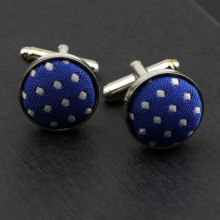 Shirt Cufflinks Jewelry Wedding Mens Fashion Round for Party-Dot Solid Polyester Stripe