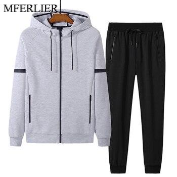 Autumn spring jackets men Plus size 5XL 6XL 7XL 8XL bust 145cm Loose with pants men jackets 5 colors