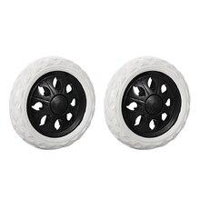 Uxcell 2 шт. колеса для тележки для покупок, замена колесика, диаметр 6,5 дюйма, резиновый пенообразователь, черный