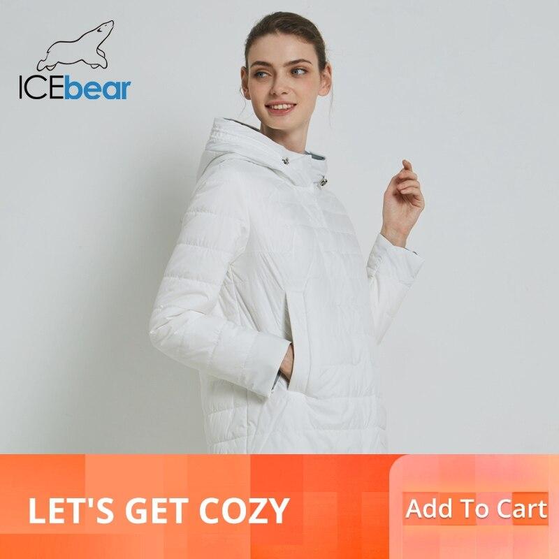 ICEbear 2019 delle Donne del Cappotto di Alta Qualità Giacca Donna casual Abbigliamento Femminile Con Cappuccio Cappotto delle Donne GWC19015I-in Parka da Abbigliamento da donna su  Gruppo 1