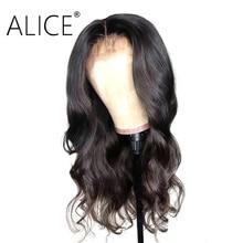 ALICE Body Wave Menselijk Haar Pruiken Met Baby Haar Pre Geplukt Lace Front Menselijk Haar Pruiken 130% Dichtheid Remy Lace voor Pruik