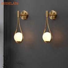 נורדי אישיות סלון יצירתי מתכת מנורת קיר אופנה מודרני מינימליסטי דגם ליד מיטת זכוכית מנורת קיר חדר שינה
