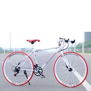 Road Bike Aluminum Alloy Adult 21/27 Speed Dual Disc Brake Bicycle