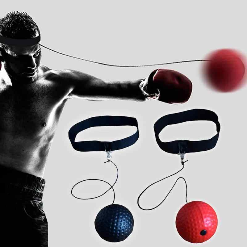 Tinju Refleks Kecepatan Pukulan Bola Sanda Boxer Meningkatkan Reaksi Tangan Bola Mata Merah Pelatihan Gaya Reaksi Stres Set Q9B4