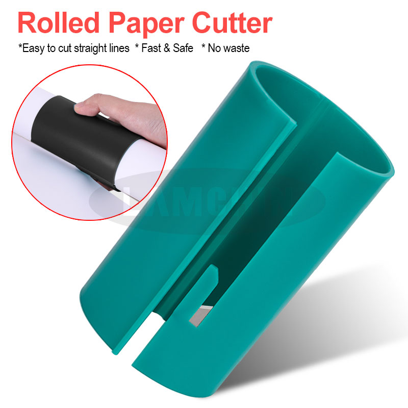 Rolled Paper Cutting Device Wrapping Paper Cutter Christmas Wrapping Paper Cutting Tools Gift Wrapping Paper Cutting Cutter