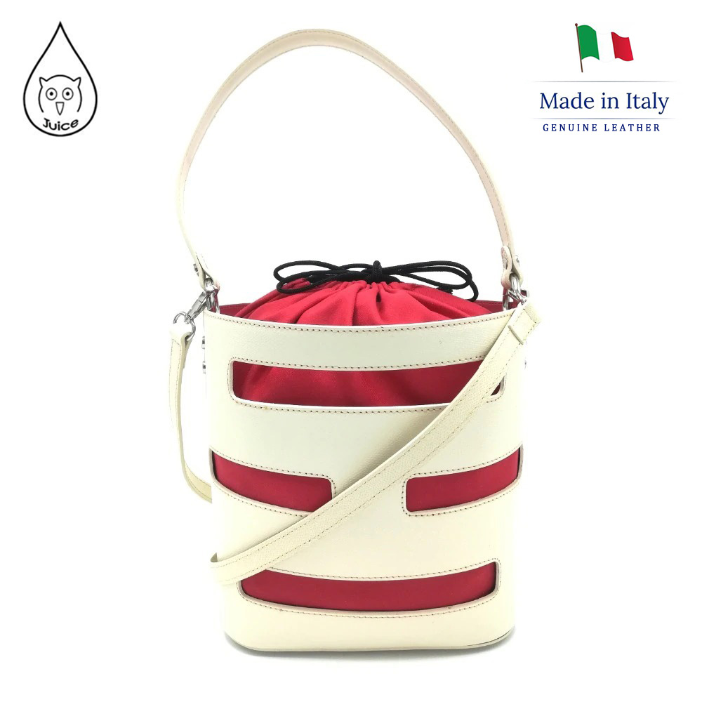 Juice Brand, Genuine Leather Bag Made In Italy, Casual Shoulder Bag 147.412