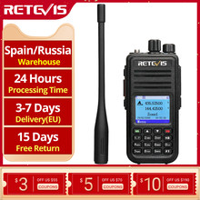 Retevis rt3s dmr rádio digital walkie talkie gps dmr presunto rádio amador 5w dmr vhf uhf banda dupla compatível com mototrbo/tyt dmr