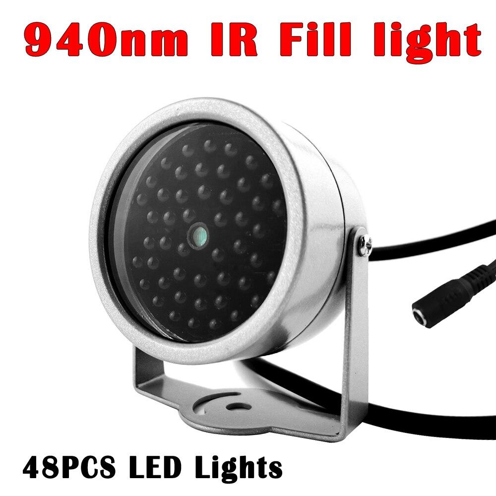 Мини-Невидимый осветитель 940NM ИК заполнения светильник 90 градусов 48 шт. инфракрасный светодиодный светильник с Ночное видение Водонепрониц...