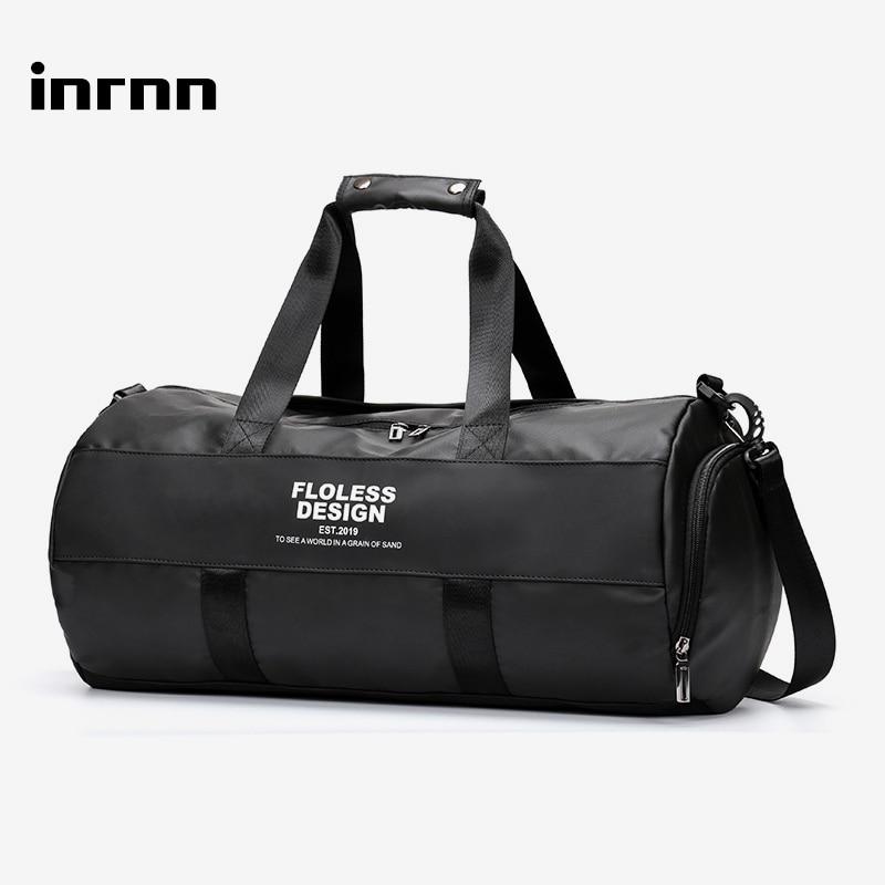 Inrnn Multifunction Travel Duffle Bag Men's Large Capacity Waterproof Handbag Male Outdoor Sports Gym Bag Fashion Luggage Bag