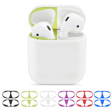 1 Pair Metal Dust Guard Sticker Cover Dust-proof Protective Decals Protector Replacement For AirPods Case(China)