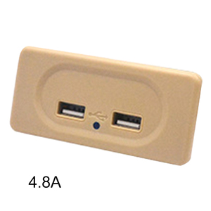 Safety Easy Install RV USB Charger Motorhome Dual Outlet Socket Power Multi Protection Universal High Speed Charging ABS Travel
