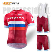 KATUSHA 2019 Pro Team Cycling Clothing /Road Bike Wear Racing Clothes Quick Dry Men's Cycling Jersey Set Ropa Ciclismo Maillot все цены