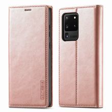 For Samsung Galaxy S20 Ultra Case Flip Leather Luxury Cover For Samsung S20 FE 5G Plus Case Wallet Magnetic Matte TPU Back Cover