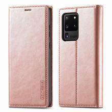 جراب هاتف خلوي فاخر ، جراب محفظة مغناطيسي غير لامع لهاتف Samsung Galaxy S20 Ultra S20 FE 5G Plus