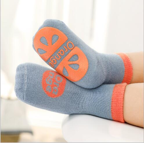 3pairs 0-5YearAutumn new children's tube socks dispensing non-slip baby floor socks learning socks for kids boy and girl 1