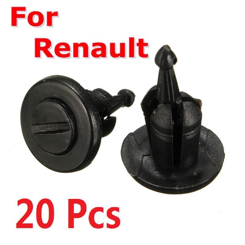 20 шт. бампер крепежная отделка Зажим заклепки для Renault Clio Laguna Megane Espace