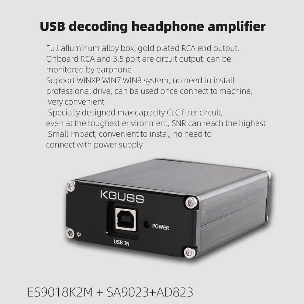 2020 nowy KGUSS Q2 Breeze Audio ESS ES9018K2M + AD823 + SA9023 dekoder USB DAC zewnętrzna karta dźwiękowa wzmacniacz poza ES9023 DAC