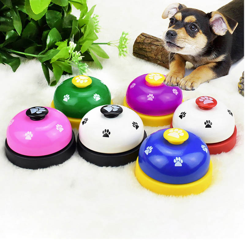 Pet Call Bell Dog Toys IQ Training Dog Cat Feeding Ringer Educational Toy Pets Toys Interactive Bell Eating Food Feeder-0