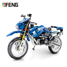 цена на Motorcycle Building Blocks Compatible Technic Car DIY Action figures Bricks Educational Toys for children Gifts