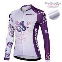 Mieyco 2019 Winter Thermal Fleece Cycling Jerseys Women Long Sleeve Bicycle Jerseys Cycling Bike Cycling Clothing For Female
