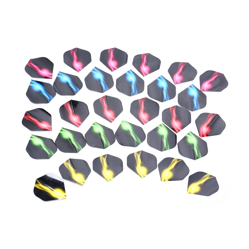 30pcs Aurora Dart Wing Translucent Dart Flying Tail Wing Feather PVC Material Dart Game Accessories