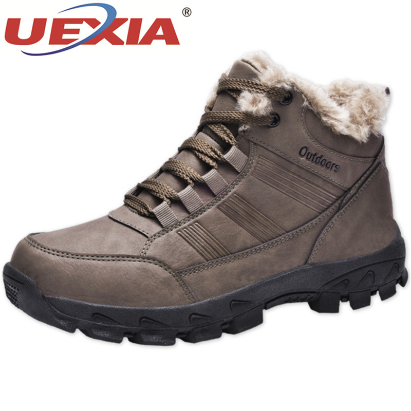 UEXIA Men's Winter Warm Outdoor Sport Shoes High Top Cotton Female Support Drop Shipping Footwear -30 Degree Celsius Warm Boots