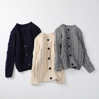 Autumn children girls boys sweater knitted cardigan solid color warm coat kids clothes  outwear Korean fashion  sweaters kids children sweaters winter 2020 casual turtleneck knitted sweaters for girls warm boy sweaters cotton girls cardigan clothes