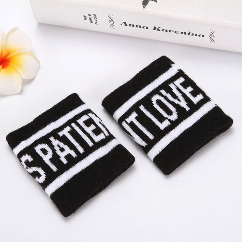 2Pcs/Pair Adult Kids Running Sports Sweatband Hip-Hop Letters Colored Striped Dancing Wrist Support Brace Wraps Guards